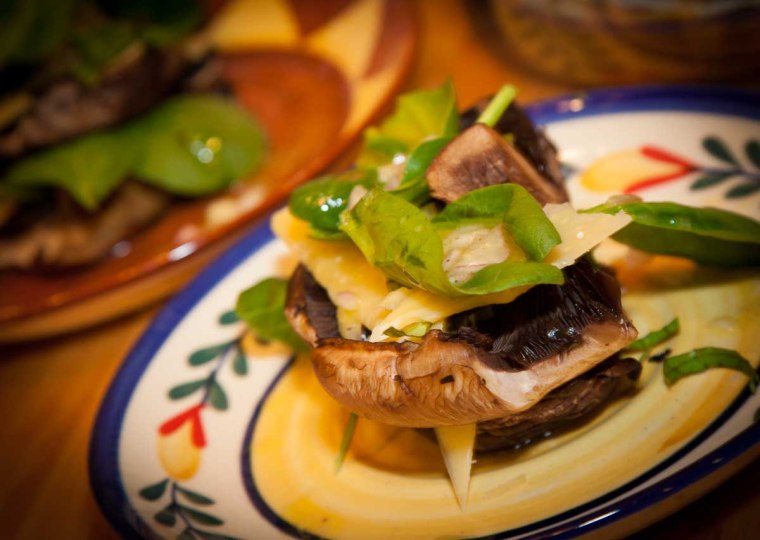 Grilled Portobello Mushrooms Stack